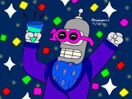 Bender Partying by MarioSimpson1