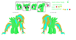this is loveheart on her new referance sheet by Loveheart-the-pony