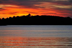 Mljet sunset blaze 1 by wildplaces