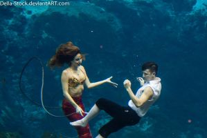 WeekieWachee Eric and Ariel.2 by Della-Stock