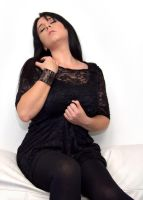 Laura W - Black Lace Dress 01 by stphq