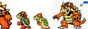Bowser Sprites N64 style by BLZofOZZ