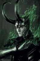 Loki - Architect of Ragnarok by apfelgriebs