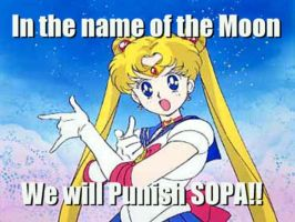 In the name of the Moon, We will punish SOPA!! by AnimeJason2010