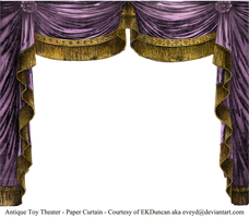 Paper Theater Curtain Amathyst by EveyD