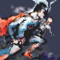Superman Rescuing a Child by ChloeC