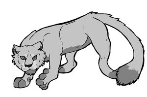 Big Cat Lineart: FREE USE by WindiciousEditions