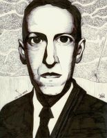 Lovecraft portrait by Iarwain-ben-adar