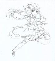 Asuna SAO WIP by Hahc3Shadow
