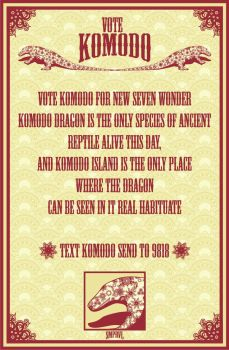 Vote Komodo for New 7 Wonder by ashclaimed