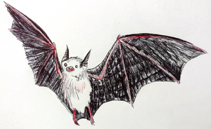 Inktober Day #22: The Bumblebee Bat by gearsGlorified