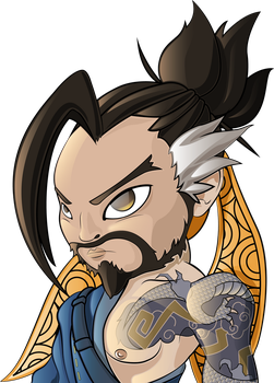 Hanzo from Overwatch by HaruInkisitor
