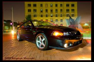 2003 Mustang Cobra at Night by supercrazzy