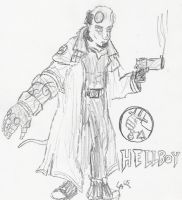 Hellboy: Sketchy by UnusTurpisOrdo
