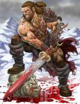 Osric the Barbarian blooded by RubusTheBarbarian
