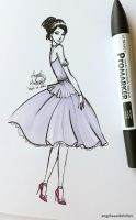 Quick Fashion Sketch by angelaaasketches