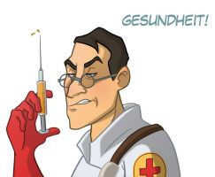 TF2 Headshots: Medic by Calick