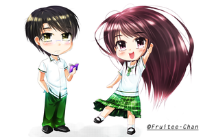 chibi OCs Alen and Julien by Fruitee-Chan