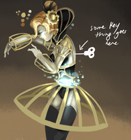Orianna Redesign - WIP by Hannah515