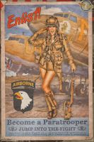 Propaganda Pinups - Enlist in the 101st Airborne by warbirdphotographer