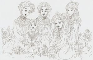 Imperial children, the meadow by I-TsarevichAlexei13