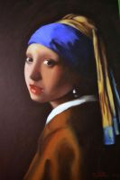 Girl with a pearl earring by thesilencelistener