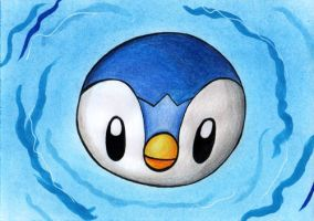 PAA 008 - Free Drawing: Piplup by Elythe
