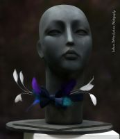 Bowtie with Feathers by CostumeSalon