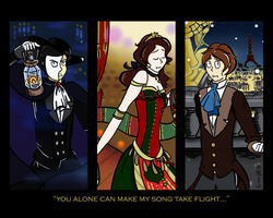 Phantom of the Opera Triptych by darkcreamz95