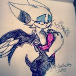 Rouge the Bat pen Doodle thing by kitten133