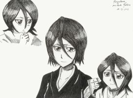 Bleach drawings - Kuchiki Rukia by mangaslover