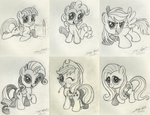 Soon-to-be-digitized Chibi Pony Sketches by AleximusPrime