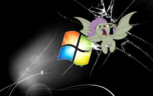 FlutterBat crash in  HD larger wallpaper by RuffiMutt