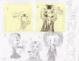 Lenore sketches by Emerald-tiger12
