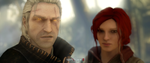 Geralt of Rivia and Triss Merigold by snp19