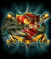 "US Army ""Alligator red"" design by JSein"