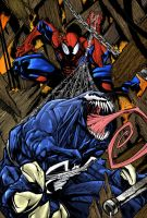 Spidey and Venom by Chromafly