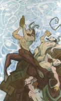 Pan and Satyrs by NicholasAx