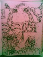 inked comic page by nickybeats