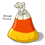 Candy Corn Rubbish Bag by RiverKpocc