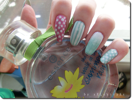 Spring Mix 'n' Match Nail Art by xXLukiraXx