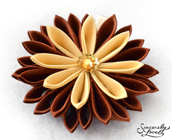 Copper Kiku Kanzashi by SincerelyLove