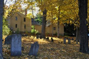 Old Graveyward and Emerson Wilcox House by BlueSolitaire