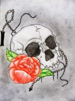 skull and rose by icytrus