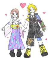 FFX - Tidus and Yuna by An-Asian-girl