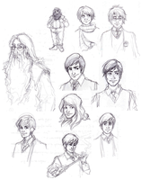 Harry Potter sketchdump by N-a-y-a