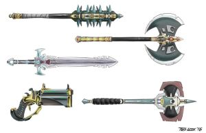 Weapon Set D by TedKimArt