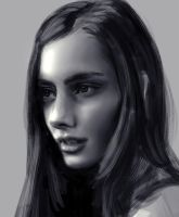 Girl sketch by ByunCaricature