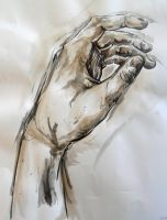 Life Drawing Class - Monumental Hand Assignment by Alerane