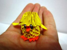 3d origami tiny baby chicken for sale by ellycolor